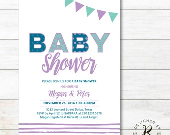 Couples baby shower invites – Etsy