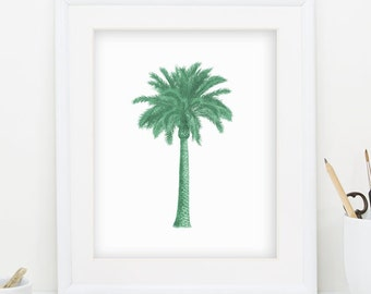 Palm Tree Wall Art palm tree wall art | etsy