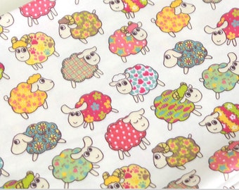 Cotton Fabric Sheep By The Yard