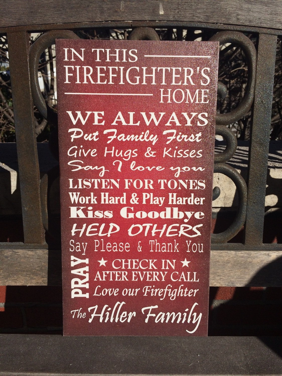 Firefighter House Rules In This House Personalized By