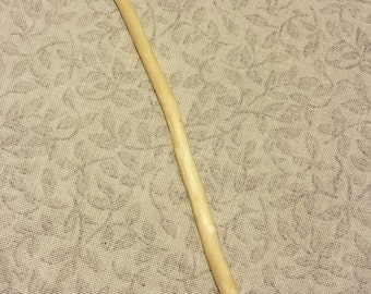 Hand Buffed Slender Elm Wood Magic Wand Nearly Straight 13 plus Inch