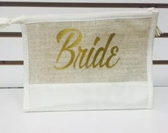 "Personalized ""Bride"" Cosmetic Bag"