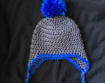 Baby hat with earflaps