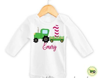 Tractor Birthday Outfit Green Tractor