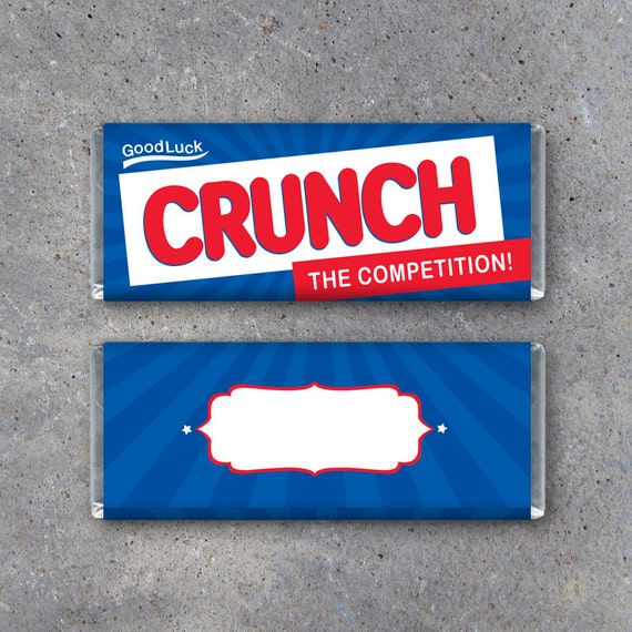 crunch candy bar wrapper printable instant download sports good
