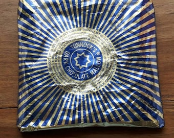 Coin, Change, Keys or Makeup Zipped Candy Wrapper Purse made from a Recycled Tunnocks Teacakes Foil Wrapper. Handmade by mylittlesweethearts