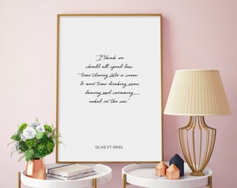 Olive et Oriel Quote   Modern Bohemian Typographic Wall Art Print or Poster - Simple Scandi Style Design. FREE Shipping