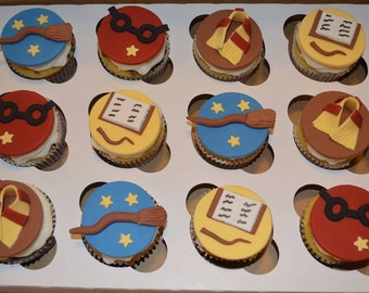 Harry Potter Inspired Cupcake Toppers Fondant Harry Potter Fondant Harry Potter Cake