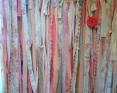 4x4 ROMANTIC Wedding Garland Backdrop // Fabric Banner // Unique, Rustic, Party, Decor