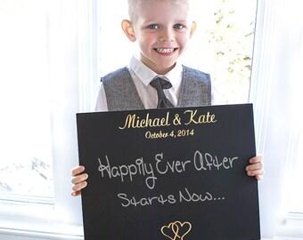 Custom Ring Bearer Wedding Chalkboard Sign