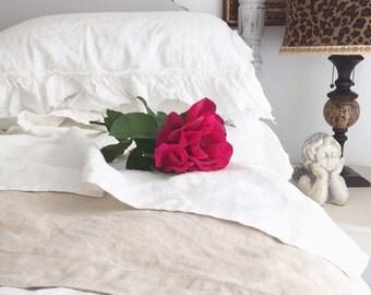 Belgian Linen Top Sheet French Linen Bedding Girls Room Romantic Luxury Bedding Flax Linen Flat Sheet