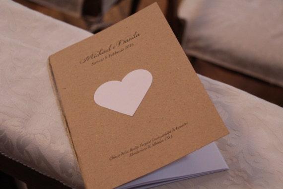 Libretto Messa Matrimonio Country Chic : Libretto messa country chic