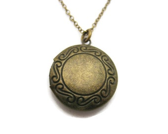 Medium Locket  Necklace Photo Locket Necklace Round Locket  Small Locket Necklace Photo Locket Jewelry  Gifts For Her