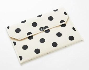 "Envelope shape 13"" Macbook Laptop case / Polka dot - Four colors"