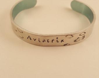 Aviatrix Female Pilot Metal Bracelet