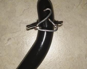 Silver Mini coat hanger rings