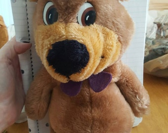 Vintage Boo Boo bear plush toy, bear plush toy, stuffed bear, bear stuffed toy, vintage teddy bear, vintage bear toy, Boo Boo collectable