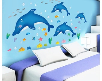 Dolphin Wall Decals - AW9168