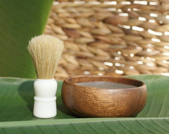 Men's Shave Soap Set with Boar's Hair Shave Brush, Shave Kit, Shave Soap, Shave Brush