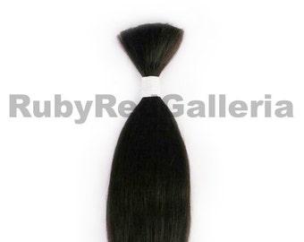 Dark Brown Straight Mohair Nuborn 1/4 oz Reborn Doll Kit Supplies 5635