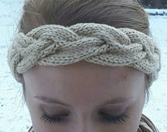 Braid-cable Knit Headband/Ear-warmer