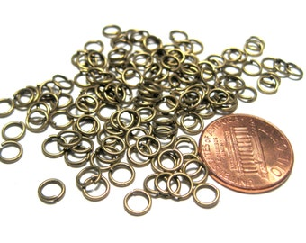 Antique Bronze Open Jump Rings 5mm 21ga(No.782)