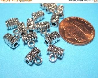 50% OFF Clearance Sale 10pcs Antique Silver Bails, 7x6mm Necklace Bail, Metal Pendant Bail