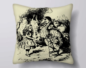 Alice In Wonderland Dodo - Cushion Fabric Panel Or Case or with Filling