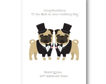 personalised gay wedding card husband special couple personalized mr and mr wedding day