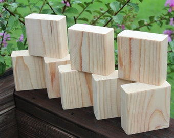 Bare wood etsy for Plain wooden blocks for crafts