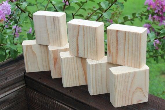 Unfinished 2x4 wood blocks diy craft blocks plain for Plain wooden blocks for crafts