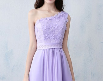 Purple Lace Dress, Bridesmaid Long Dress, Prom Evening Dresses, Evening Gown, Wedding Dress