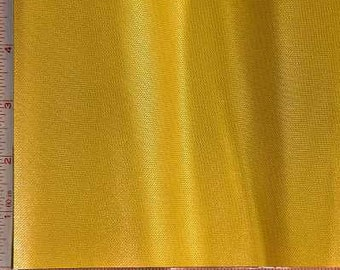 """Yellow Shiny & Dull Pique Fabric 2 Way Stretch Polyester 7 Oz 58-60"""""""