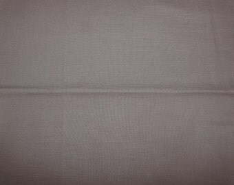 CLEARANCE - Taupe cotton fabric - 140cm remnant