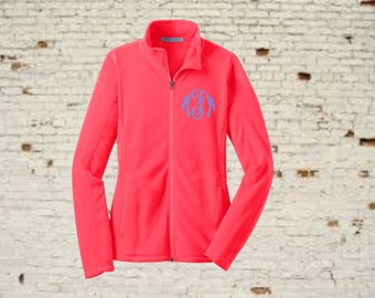 monogrammed jacket, monogrammed coat, fleece jacket, monogrammed fleece jacket