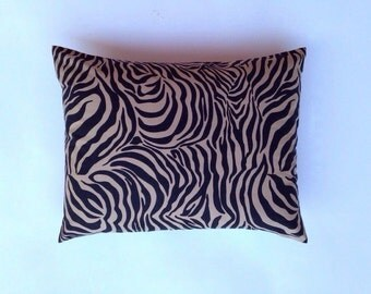 Zebra Pillow Black and Khaki