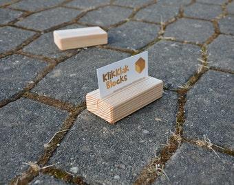 10 Wood Place Card Holders for Weddings, DIY Rustic Wood Table Number Holders, Cafe or Restaurant Menu Holder, Business Card Holder