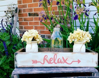 Rustic Spring planter box