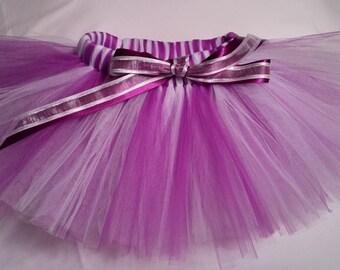 Purple and White Tutu, purple white tutu, baby tutu, infant tutu, toddler tutu, newborn tutu, 1st birthday tutu, birthday tutu, girls tutu