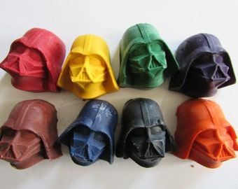 8 Vadar Crayons-Recycled Crayons - Vader - Party Favor - Kids - Coloring - Easter Basket - Stocking Stuffer