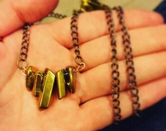 Gold Layered Stone Neckalce
