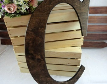 Large Wood Letters Wedding Signs Wedding Signature Letters Monogram Letters Wedding Photo Props Black Large Letter S Home Decor