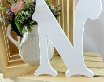 """12"""" Wood Letters Nusery Letters Alphabet Letters Victorian Letters Home Decor Baby Shower Gifts Wedding Decor Monogram Letters Guestbook"""