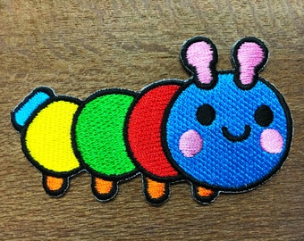 New Worm Cute Iron on Patch Sew Iron On Embroidered Patch Applique Badge