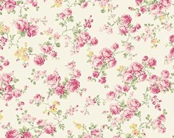 Ruru Bouquet - Roses Allover Cream - Quilt Gate (2200-17A) Fabric Yardage