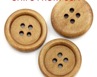 "Bulk Wood Buttons , 50 3/4"" inch Wood Buttons , Wood Buttons ,  20mm Wood Buttons , Bulk Wood Buttons , Wholesale Wood Buttons"