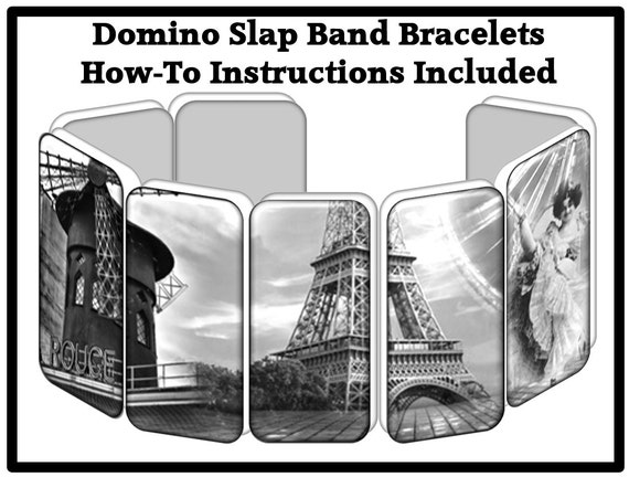 paris domino bracelet printable 8 beautiful images. Black Bedroom Furniture Sets. Home Design Ideas
