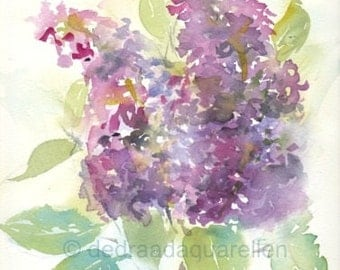 Lilacs. Original watercolour.