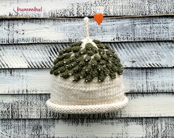 White Knitted hat for Women, green hat, Womens Knitted Hat, Winter Hat, Gift for her, Women Fashion Accessories