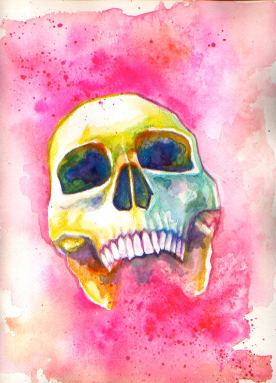 Colorful Skull (Pink) PRINT